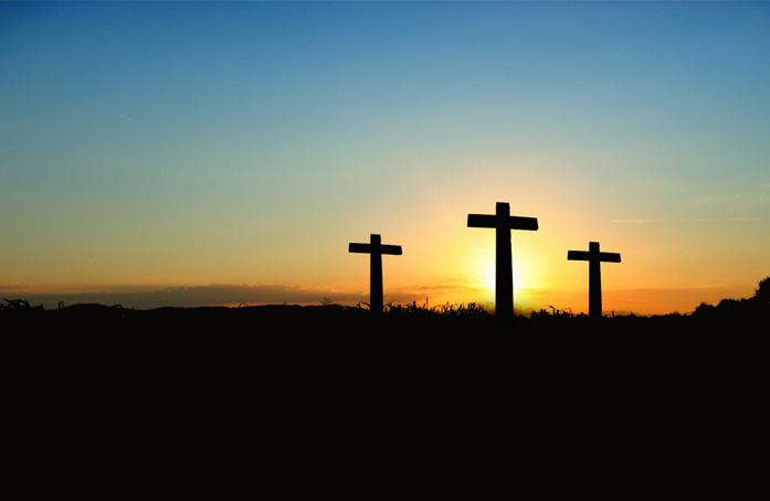 Sunset of crosses